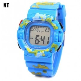 image of NT - 6011 KIDS DIGITAL WATCH DATE DAY ALARM LED LIGHT DISPLAY WRISTWATCH (LAKE BLUE) 0