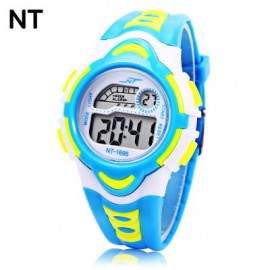 image of NT - 1695 KIDS DIGITAL WATCH DATE DAY ALARM LED LIGHT DISPLAY WRISTWATCH (LAKE BLUE) 0