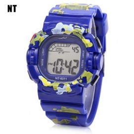 image of NT - 6011 KIDS DIGITAL WATCH DATE DAY ALARM LED LIGHT DISPLAY WRISTWATCH (BLUE) 0