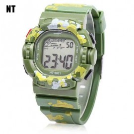 image of NT - 6011 KIDS DIGITAL WATCH DATE DAY ALARM LED LIGHT DISPLAY WRISTWATCH (GREEN) 0