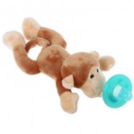 image of CUTE INFANT ANIMAL SILICONE WUBBANUB CUDDLY SOFT PLUSH TOY (BROWN) -