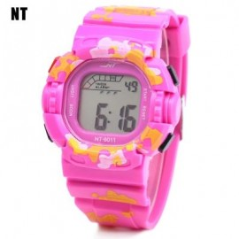 image of NT - 6011 KIDS DIGITAL WATCH DATE DAY ALARM LED LIGHT DISPLAY WRISTWATCH (PINK) 0