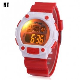 image of NT - 1633 KIDS DIGITAL WATCH DATE DAY ALARM LED LIGHT DISPLAY WRISTWATCH (RED) 0
