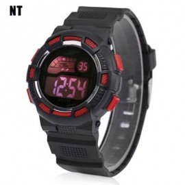 image of NT - 711 KIDS DIGITAL WATCH DATE DAY ALARM LED LIGHT DISPLAY WRISTWATCH (RED WITH BLACK) 0