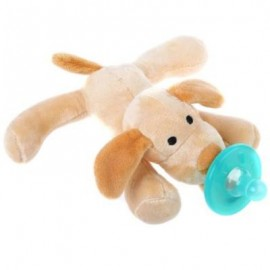 image of CUTE INFANT ANIMAL SILICONE WUBBANUB CUDDLY SOFT PLUSH TOY (EARTHY) -