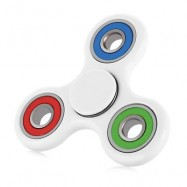 image of COLORFUL TRILATERAL PATTERN ABS HAND SPINNER STEEL BEARINGS (WHITE) -
