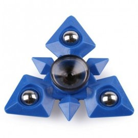 image of METAL BALLS TRIANGLE FINGER GYRO HAND SPINNER (BLUE) -