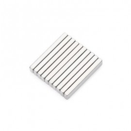 image of 10PCS 30 X 5 X 3MM N52 STRONG NDFEB SQUARE MAGNET BIRTHDAY DIY INTELLIGENT GIFT (SILVER) -
