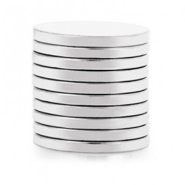 image of 10PCS 20 X 20 X 2MM N35 STRONG NDFEB ROUND MAGNET BIRTHDAY DIY INTELLIGENT GIFT (SILVER) -