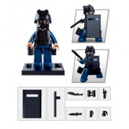 image of SLUBAN BUILDING BLOCKS EDUCATIONAL KIDS TOY POLICE SET 1PC (ARMYGREEN) 0