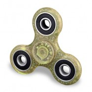 image of EDC FOCUS TOY FINGER GYRO STRESS RELIEF PLASTIC FIDGET SPINNER (YELLOW) -