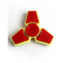 image of THREE LEAF FINGER GYRO STRESS RELIEF TOY FIDGET SPINNER (FLAME) -