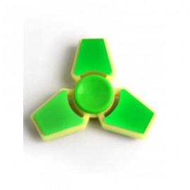 image of THREE LEAF FINGER GYRO STRESS RELIEF TOY FIDGET SPINNER (NEON GREEN) -