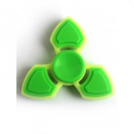 image of THREE LEAF FINGER GYRO STRESS RELIEF TOY FIDGET SPINNER (GREEN) -