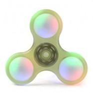 image of LED LIGHT PLASTIC FIDGET SPINNER FINGER GYRO (YELLOW GREEN) 8*8*1.2CM
