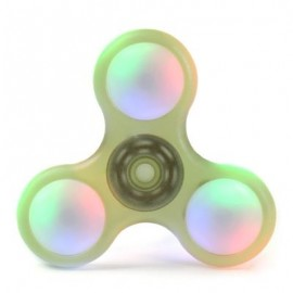 image of LED LIGHT PLASTIC FIDGET SPINNER FINGER GYRO (YELLOW GREEN) 8*8*1.2CM