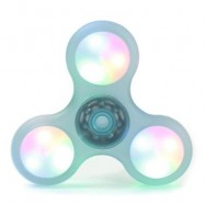 image of LED LIGHT PLASTIC FIDGET SPINNER FINGER GYRO (LIGHT GREEN) 8*8*1.2CM