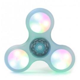image of LED LIGHT PLASTIC FIDGET SPINNER FINGER GYRO (LIGHT GREEN) 8*8*1.2CM