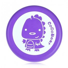 image of SOFT SAFE PU PRINTED FLYING DISC OUTDOOR SPORTS TOY FOR KIDS (PURPLE) -