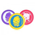 SOFT SAFE PU PRINTED FLYING DISC OUTDOOR SPORTS TOY FOR KIDS (YELLOW) -