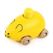 image of YOULEBI MUSIC MICE SQUEAKING WOODEN TOYS KIDS GADGET (YELLOW) -