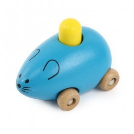 image of YOULEBI MUSIC MICE SQUEAKING WOODEN TOYS KIDS GADGET (BLUE) -