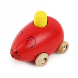 image of YOULEBI MUSIC MICE SQUEAKING WOODEN TOYS KIDS GADGET (RED) -
