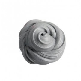 image of COLORFUL SOFT SCENTED STRESS RELIEF SLUDGE KIDS TOY CREATIVE (SILVER) 0