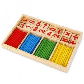 image of MONTESSORI MATHEMATICAL INTELLIGENCE STICK PRESCHOOL EDUCATIONAL TOYS (COLORMIX) -