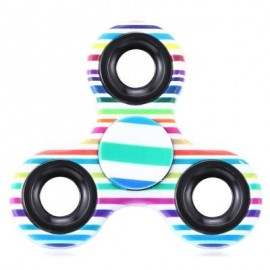 image of FOCUS TOY TRIANGLE STRIPED FINGER GYRO FIDGET SPINNER (STRIPE) -
