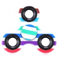 image of FOCUS TOY TRIANGLE STRIPED FINGER GYRO FIDGET SPINNER (COLORMIX) -