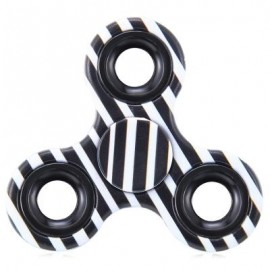 image of FOCUS TOY TRIANGLE STRIPED FINGER GYRO FIDGET SPINNER (BLACK) -