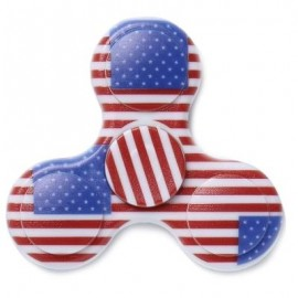 image of PLASTIC NATIONAL FLAG PATRIOTIC PATTERNED FIDGET SPINNER (BLUE) -