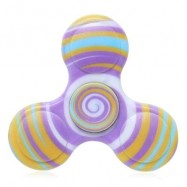 image of ANTI-STRESS TOY PLASTIC PATTERNED FIDGET SPINNER (YELLOW) -