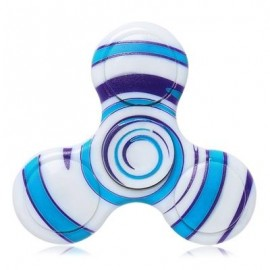 image of ANTI-STRESS TOY PLASTIC PATTERNED FIDGET SPINNER (BLUE) -