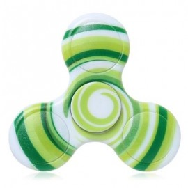 image of ANTI-STRESS TOY PLASTIC PATTERNED FIDGET SPINNER (GREEN) -