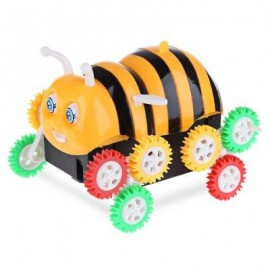 image of ELECTRIC CARTOON BEE BUCKET STUNT CAR TOY AUTOMATIC FLIP (COLORMIX) -