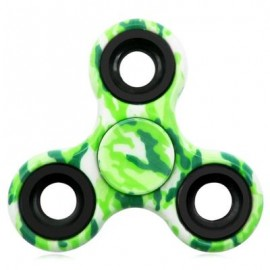 image of STRESS RELIEF TOY CAMOUFLAGE FINGER GYRO FIDGET SPINNER (GREEN) -