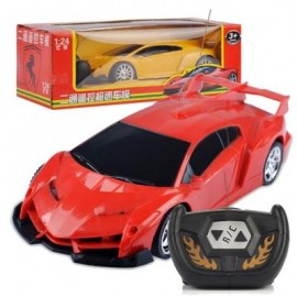 image of CHILDREN REMOTE CONTROL ELECTRIC RC CAR 1:24 MODEL TOYS (RED) 0