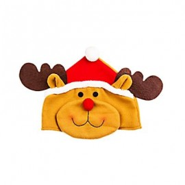 image of LOVELY CARTOON CHRISTMAS HAT GIFT DECORATION ORNAMENT SUPPLY FOR HOLIDAY PARTY (COLORMIX, ELK) Elk