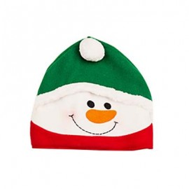 image of LOVELY CARTOON CHRISTMAS HAT GIFT DECORATION ORNAMENT SUPPLY FOR HOLIDAY PARTY (COLORMIX, SNOWMAN) Snowman