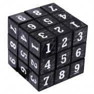 image of 3 X 3 X 3 SMALL ARABIC NUMBERS BRAIN TEASER IQ CUBE PUZZLE TOY 5.50 x 5.50 x 5.50 cm