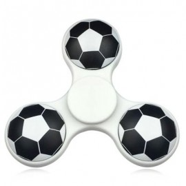 image of FIDDLE TOY SOCCER PATTERN FINGER GYRO FIDGET SPINNER (WHITE) -