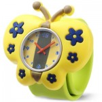 CUTE CHILDREN QUARTZ WATCH SILICONE STRAP BUTTERFLY SHAPE CASE WRISTWATCH (YELLOW) 0