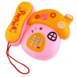 image of SIMULATED ELECTRONIC MUSHROOM TELEPHONE MUSIC KIDS EARLY EDUCATIONAL TOY (COLORMIX) -