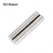 image of 50PCS 7 X 7 X 2MM N52 STRONG NDFEB ROUND MAGNET BIRTHDAY DIY INTELLIGENT GIFT (SILVER) -