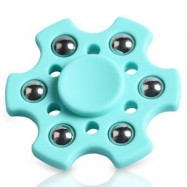 image of FOCUS TOY SNOWFLAKE SHAPE BALL BEARING FIDGET FINGER SPINNER -