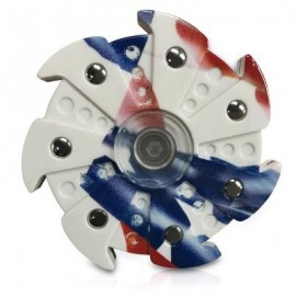 image of FOCUS TOY BALL BEARING WHEEL HAND SPINNER (WHITE) -