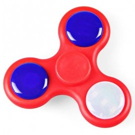 image of LED FIDGET SPINNER WITH MUSIC STRESS RELIEF TOY (RED) -