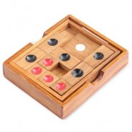 image of KIDS CLASSICAL WOODEN SLIDE ESCAPE PUZZLE INTELLIGENCE DEVELOPMENT TOY BRAIN TEASER (WOOD) -